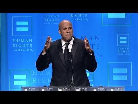 Cory Booker at the 2012 HRC National Dinner