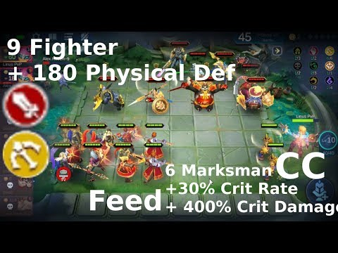 Game 3D Magic Chess BB: 6 Markman Solo 9 Fighter | Buff Feed + CC |  17:17 Final Round