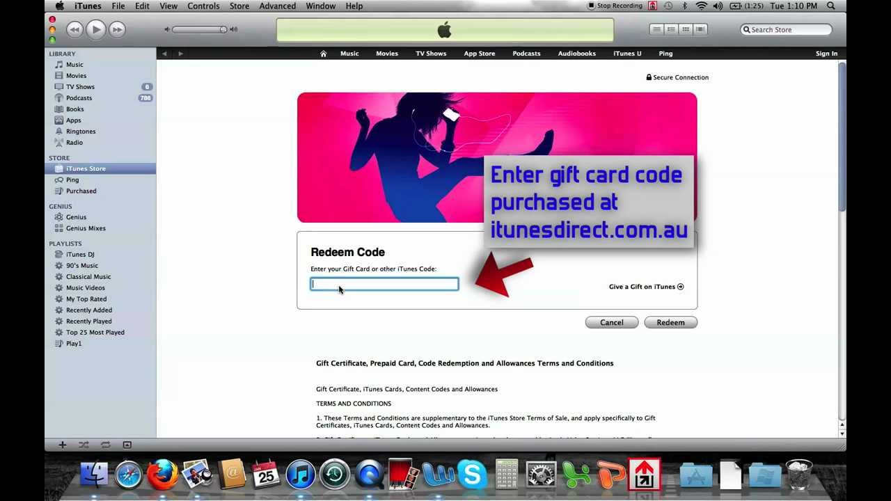 how to stop itunes gift card