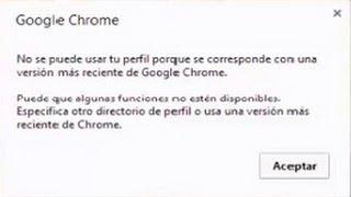 google chrome no abre error perfil solución