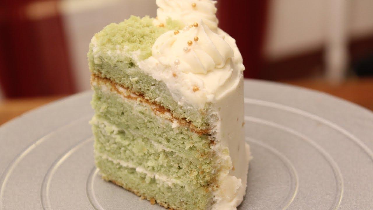 Green Tea And White Chocolate Opera Cake Recipe — Dishmaps