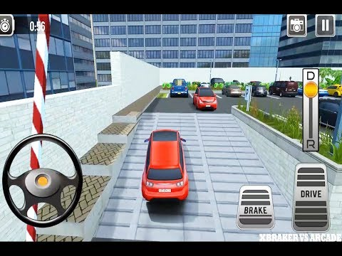 car-parking-3d-:-driving-simulator-red-car-driving-all-leves-completed---android-gameplay-2019