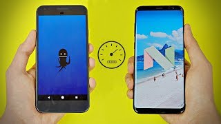 Google Pixel OFFICIAL Android 8.0 OREO vs Galaxy S8 - Speed Test! (4K)