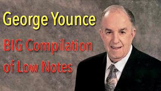 George Younce Big Compilation of Low Notes - C2 to C#1 Bass