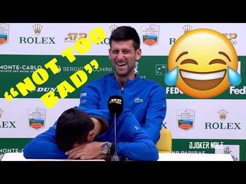 "Novak Djokovic ""NOT TOO BAD"" FUNNY MOMENT - Monte Carlo 2019 (HD)"
