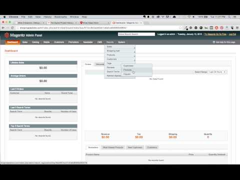 Magento Tutorial #3 - Introduction Of The Major Admin Navigation Elements