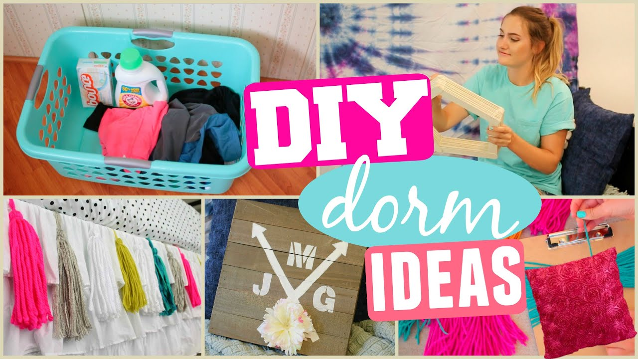 Diy dorm room makeover decor organization ideas youtube for Room decor organization