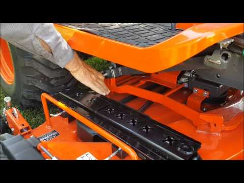 How to Install and Remove the Drive Over Deck on a Kubota BX2670