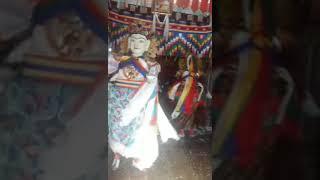 Dance of Yeshi Gembo and Pelden Lhamo in Bhutan