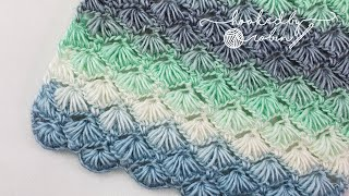 Crochet Puff Shell Star Stitch (Great for Scarves or Blankets) | Stunning Textured Stitch