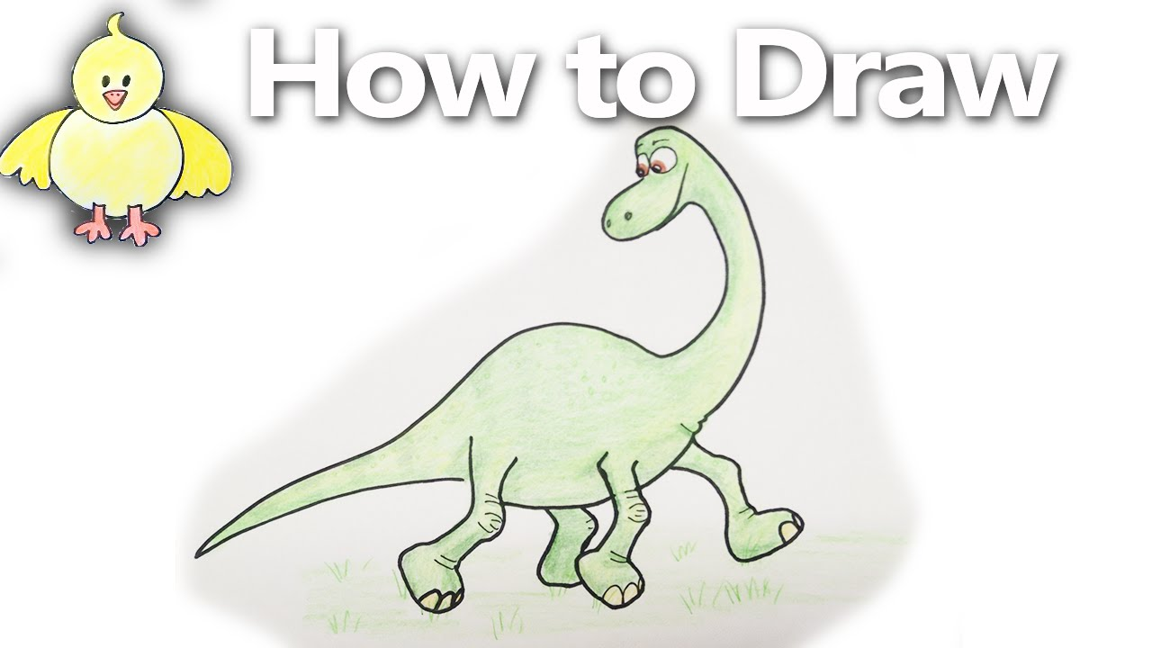 Uncategorized Dinosaur Drawing Tutorial how to draw arlo step by the good dinosaur drawing tutorial youtube
