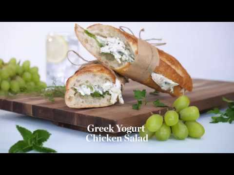 Greek Yogurt Chicken Salad With Pine Nuts, Grapes, And Fennel Recipe