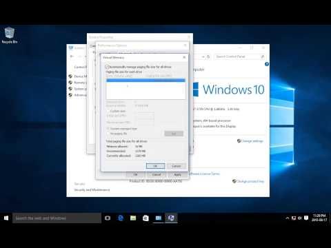 ✔ Windows 10 - Performance - Virtual Memory - Visual Effects - Advanced System Settings