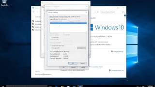 Windows 10 - Performance - Virtual Memory - Visual Effects - Advanced System Settings