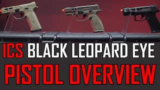 WHAT ARE THESE? - ICS Black Leopard Eye Gas Blowback Pistols | Airsoft GI