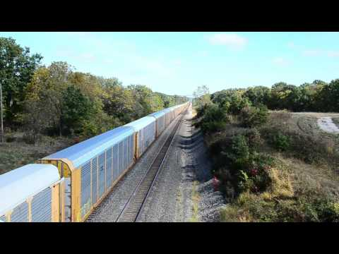 Fast Freight- 1.5 mile long train at Mendon, MO