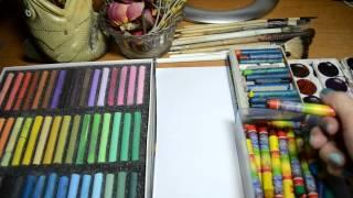 ASMR НА РУССКОМ. Акварель и Пастель. / ASMR IN RUSSIAN. Watercolor and Pastel.