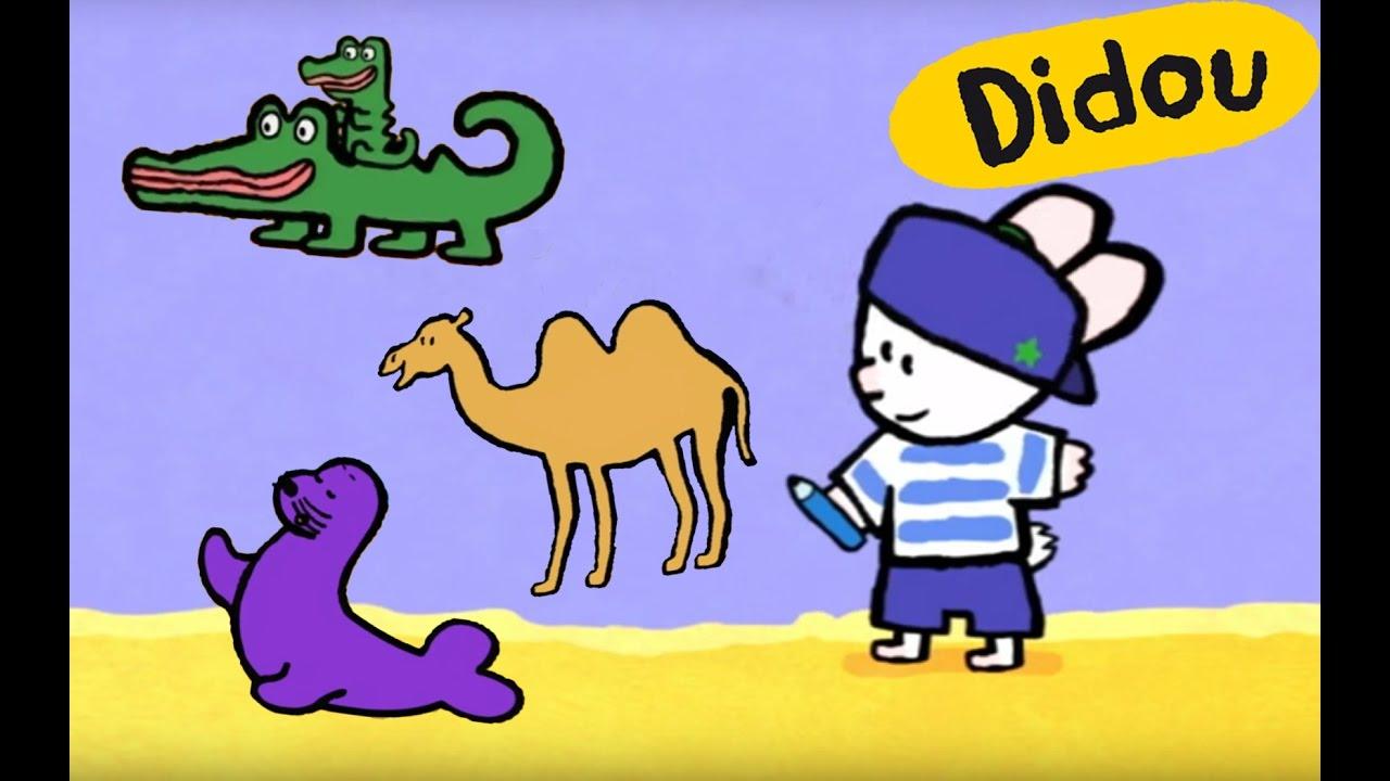 Didou dessine moi un chameau une otarie et un crocodile dessin anim pour les enfants youtube - Dessin anime les crocodiles ...