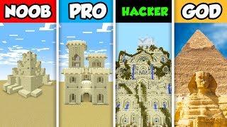 Minecraft NOOB vs. PRO vs. HACKER vs GOD: SAND CASTLE BUILD CHALLENGE in Minecraft! (Animation)
