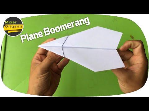 How to make plane boomerang. Mixer Origami