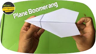 How to make plane boomerang. Mixer Origami