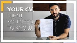 Your CV, What You Need to Know!