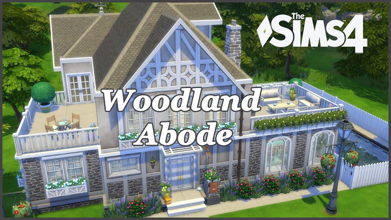 The Sims 4 - Woodland Abode - Backyard stuff (House Build) - YouTube