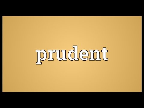 Prudent Meaning