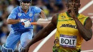 MS Dhoni Faster Than Usain Bolt !!??