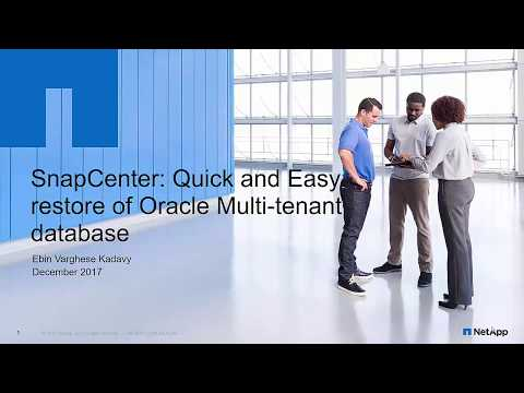 Quick And Easy Restore Of Oracle Multitenant Database Using NetApp SnapCenter