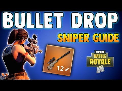 FORTNITE BATTLE ROYALE SNIPING GUIDE - How To Adjust For Bullet Drop & How Scopes Work - Sniper Tips