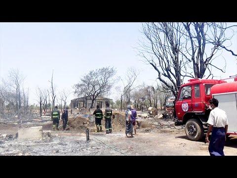 ယင်းမာပင်မြို့နယ်က မီးဘေးသင့်ပြည်သူတွေ ပြန်လည်ထူထောင်ရေး