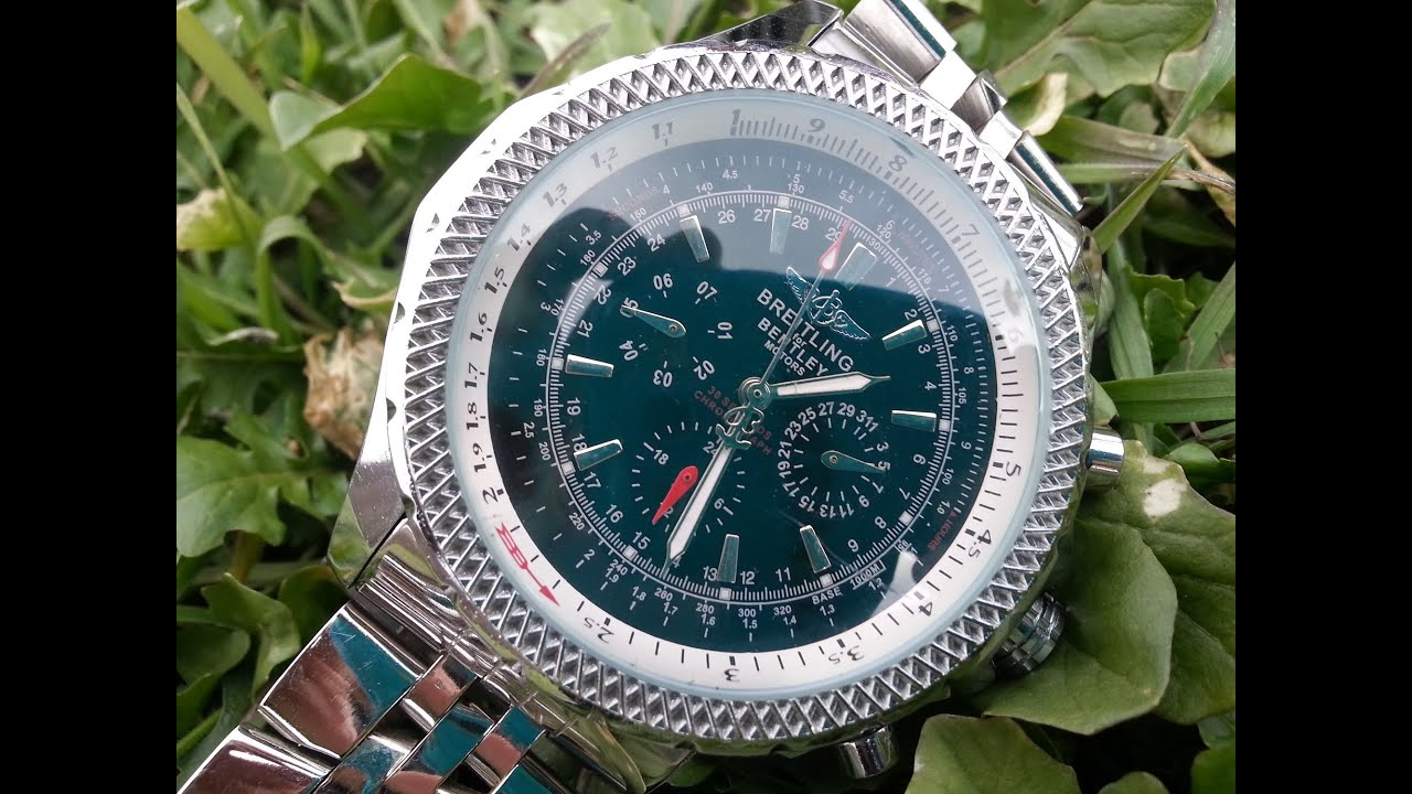 Breitling For Bentley >> Breitling Stainless Steel Watch - water test - YouTube