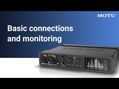 UltraLite-mk5: basic connections and monitoring