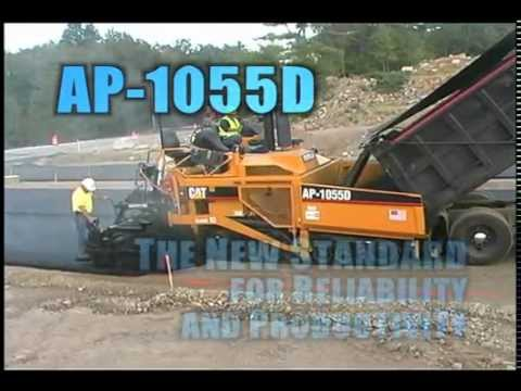Cat® AP1055D Track Asphalt Paver In Action