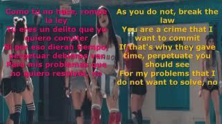 CRIMINAL LYRICS IN ENGLISH & SPANISH by NATTI NATASHA & OZUNA