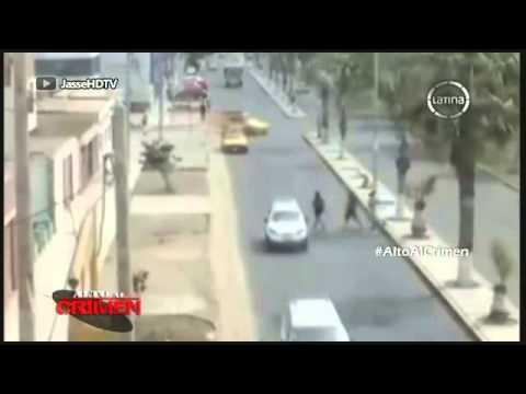 CAMARAS VIGILANCIA VICTOR LARCO- ALTO AL CRIMEN  FRECUENCIA LATINA  SECUENCIA EN LA MIRA  06 04 2014