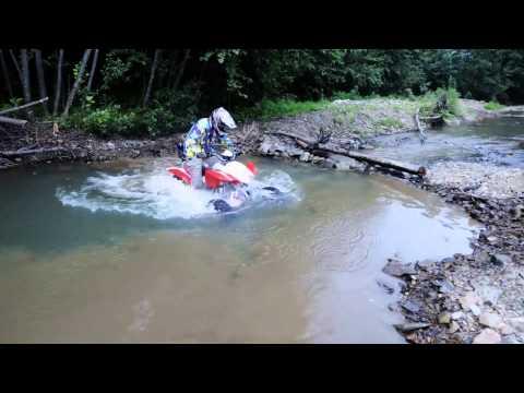 Квадроцикл IRBIS ATV250S прет под водой по ручки