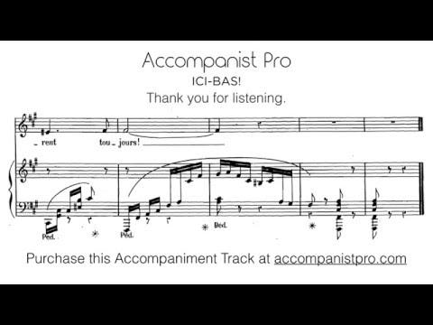 Ici bas! - Gabriel Fauré, F#-minor (Piano Accompaniment)