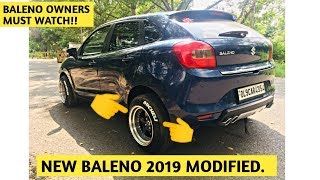 New Baleno Delta 2019 modified   Baleno 2019 exhaust diffuser and accessories   Modified Baleno 2019 Video
