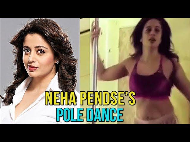 Marathi Actress Neha Pendses New Pole Dance   Natsamrat Marathi Movie & May I Come In Madam Serial