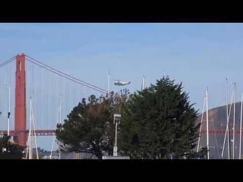 President Obama Marine One & Ospreys arrival Crissy Field San Francisco (February 13, 2015)