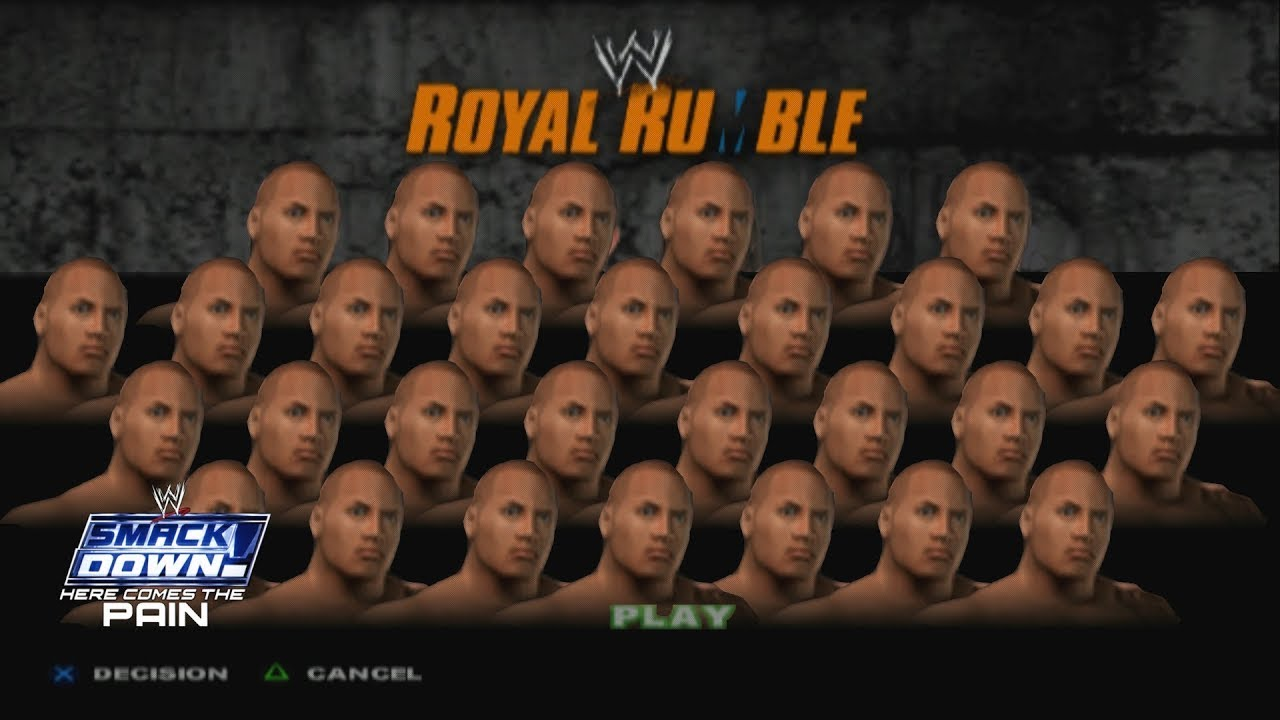 Unlimited The Rock In Royal Rumble Match - WWE SmackDown! Here Comes The Pain
