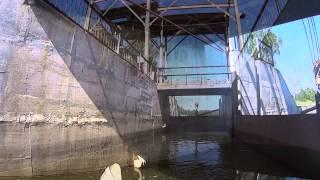 Река Теза шлюз №1(Второй день нашего путешествия по реке теза. Перед нами первый шлюз. Приятно поболтали с Карлом (главный..., 2015-01-07T13:25:17.000Z)