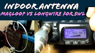 Indoor Magnetic Loop vs Long Wire Ham Radio & Shortwave RX Comparison