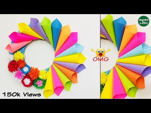 Wall Hanging Craft Ideas | Home/Wall Decoration Ideas With Paper Cones