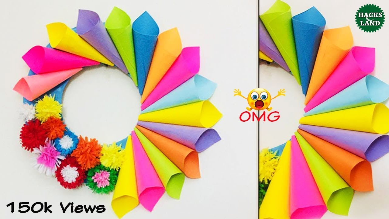 Wall Decoration Ideas With Paper Cones