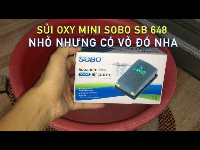MỞ HỘP SỦI OXY MINI 2 VÒI SOBO SB 648 Air Pump Aquarium Siêu Mạnh