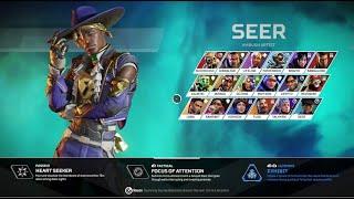*New* Seer Launch Bundle Skin Gameplay | Heartthrob skin Third Person | Apex legends season 10