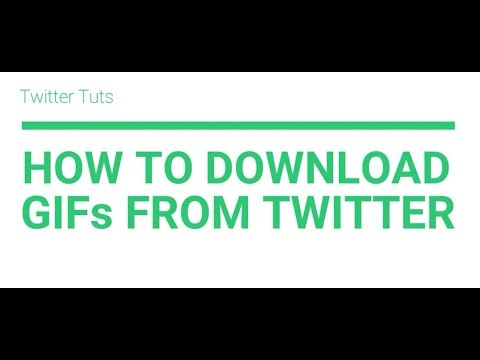 How To Download/Save GIF's From Twitter On Android, IPhone & Computer